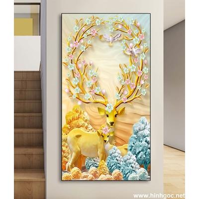 Trừu tượng 3D hươu vàng-DLV-271]